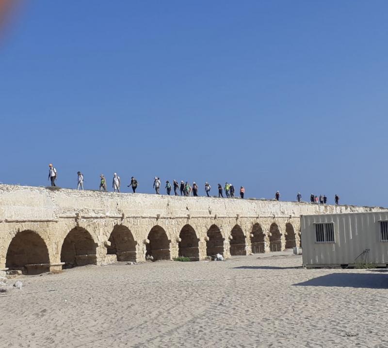 קבוצת מטיילים בשביל ישראל - טיול ראשון