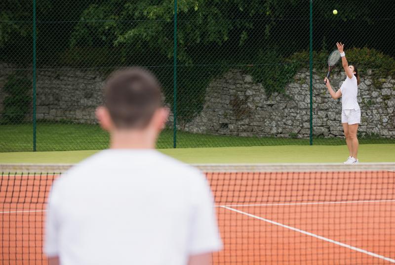 מפגש טניס עם רגבה ויחיעם בבלון הטניס